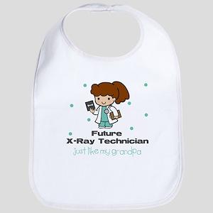 Future X-Ray Tech like Grandpa Baby Infant Bib