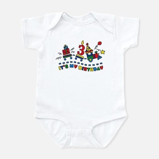 Choo Choo Third Birthday Infant Bodysuit