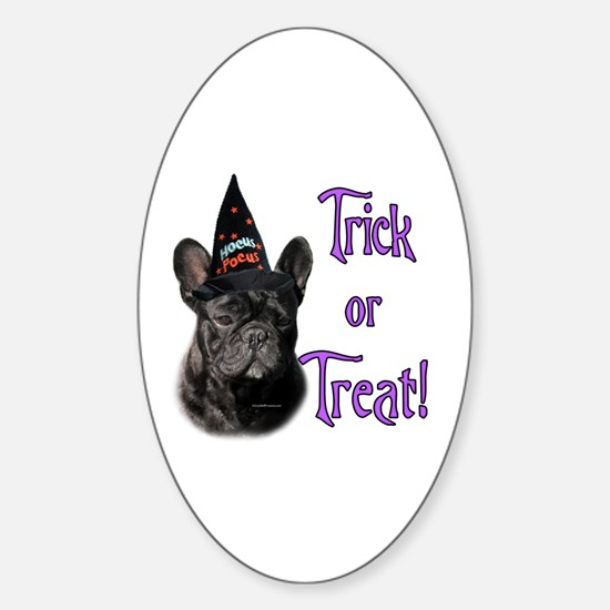 Frenchie Trick Oval Decal