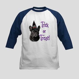 Frenchie Trick Kids Baseball Jersey
