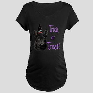 Frenchie Trick Maternity Dark T-Shirt