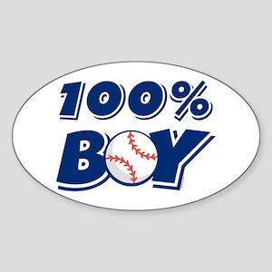 100% Boy Oval Sticker