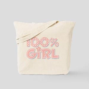 100% Girl Tote Bag