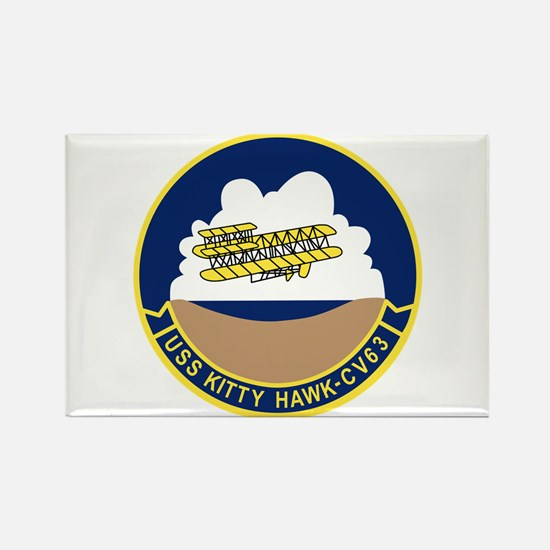 Cute Uss kitty hawk Rectangle Magnet