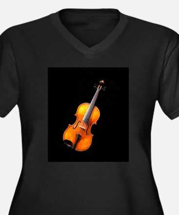 Violin / Viola 2 Women's Plus Size V-Neck Dark T-S