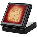Labrador Dog & Friend Keepsake Box