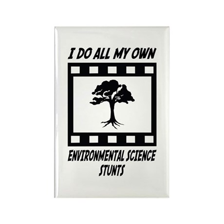 Environmental Science Stunts Rectangle Magnet
