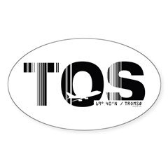 Tromso Airport Code Norway TOS Oval Decal