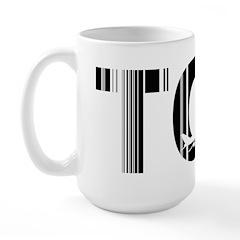 Tromso Airport Code Norway TOS Large Mug
