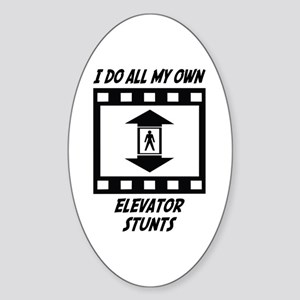 Elevator Stunts Oval Sticker