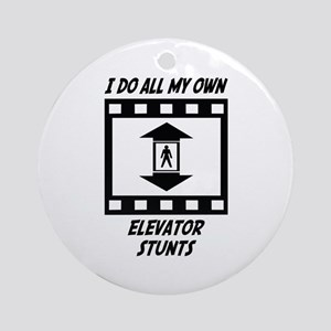 Elevator Stunts Ornament (Round)