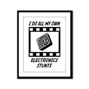 Electronics Stunts Framed Panel Print