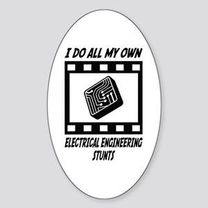 Electrical Engineering Stunts Oval Sticker