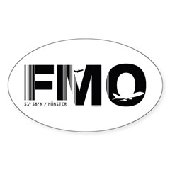 Munster Airport Code Germany FMO Oval Decal