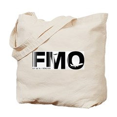 Munster Airport Code Germany FMO Tote Bag