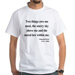 Immanuel Kant 5 White T-Shirt