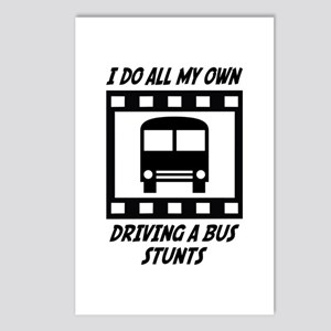 Driving a Bus Stunts Postcards (Package of 8)