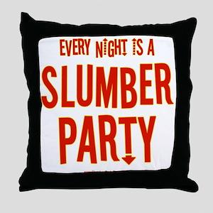 Slumber Party Theater Throw Pillow