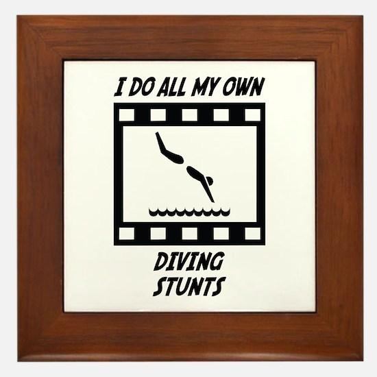 Diving Stunts Framed Tile