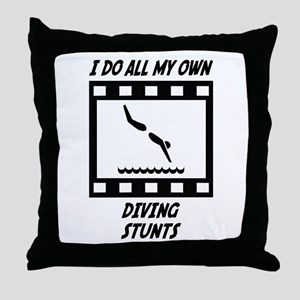Diving Stunts Throw Pillow