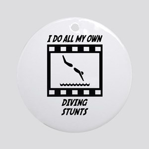 Diving Stunts Ornament (Round)