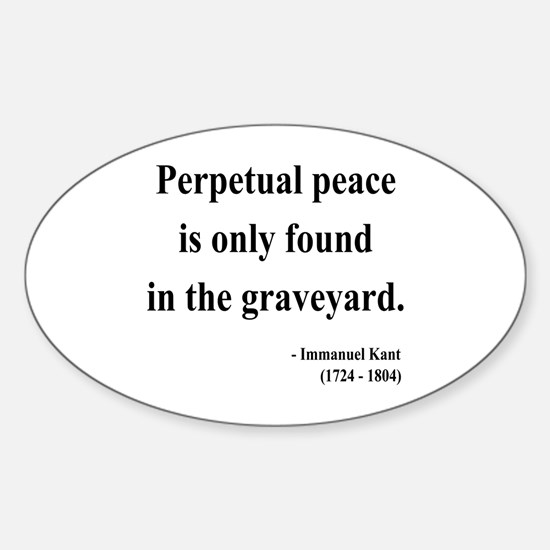 Immanuel Kant 7 Oval Decal