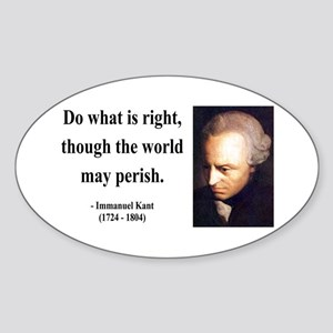Immanuel Kant 8 Oval Sticker