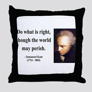 Immanuel Kant 8 Throw Pillow