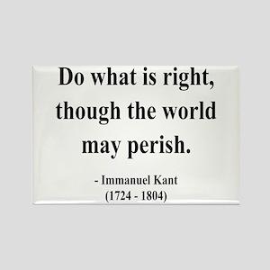Immanuel Kant 8 Rectangle Magnet