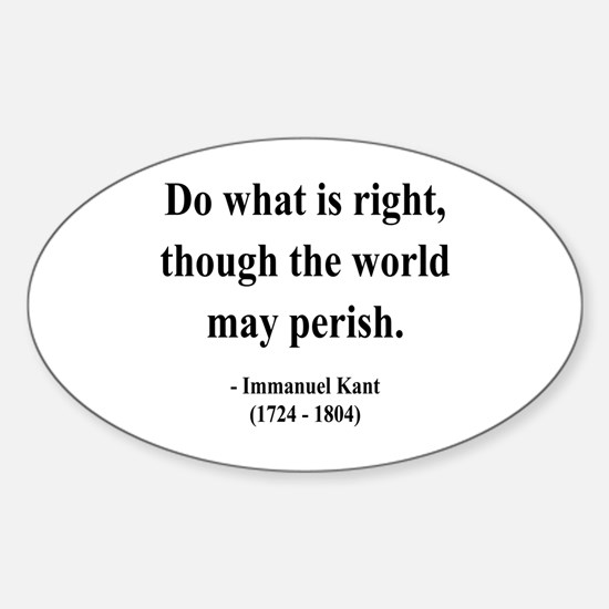 Immanuel Kant 8 Oval Decal
