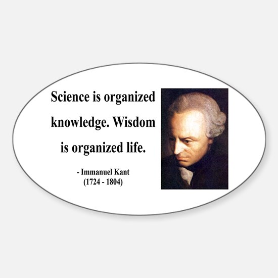 Immanuel Kant 9 Oval Decal