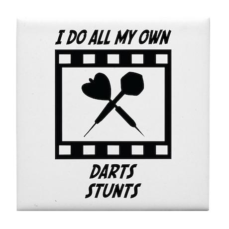 Darts Stunts Tile Coaster