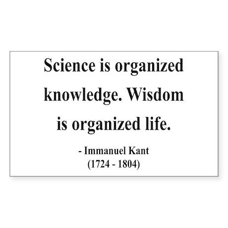 Immanuel Kant 9 Rectangle Sticker