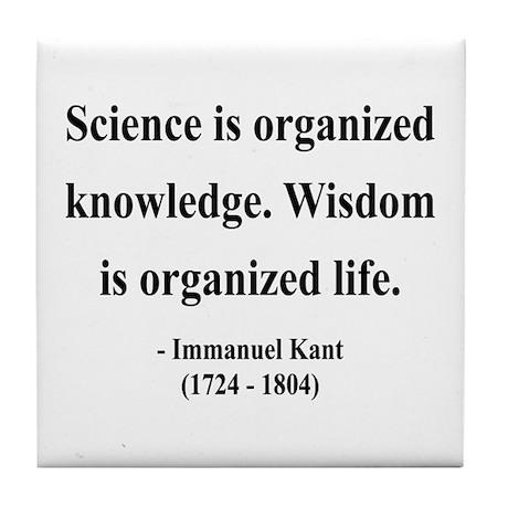 Immanuel Kant 9 Tile Coaster