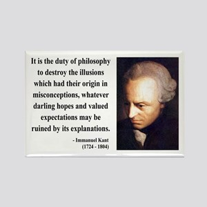 Immanuel Kant 10 Rectangle Magnet
