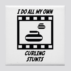 Curling Stunts Tile Coaster