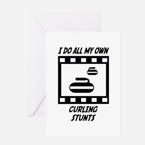 Curling Stunts Greeting Card