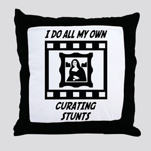 Curating Stunts Throw Pillow
