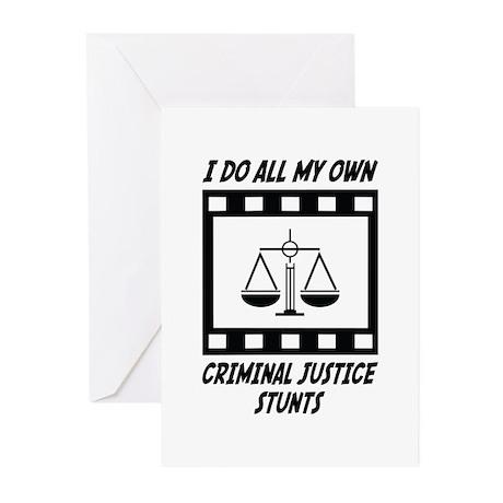 Criminal Justice Stunts Greeting Cards (Pk of 10)