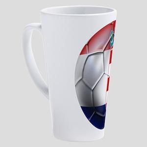 Croatian Football 17 Oz Latte Mug