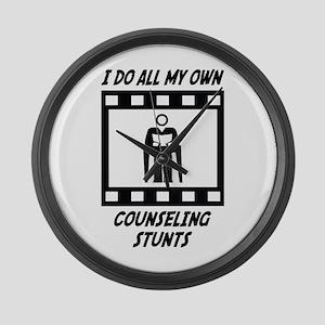 Counseling Stunts Large Wall Clock