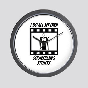Counseling Stunts Wall Clock