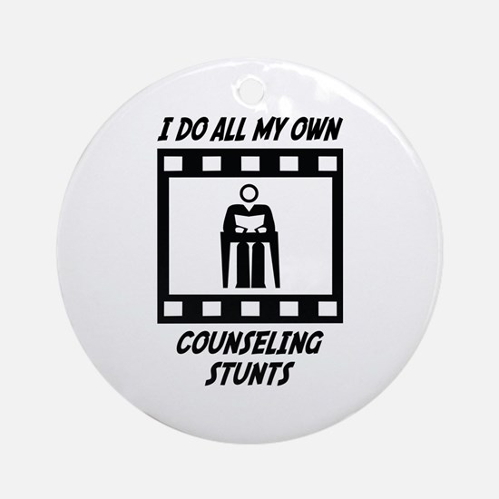 Counseling Stunts Ornament (Round)