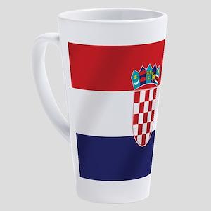Croatian National Flag 17 Oz Latte Mug