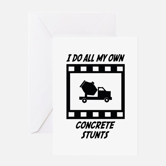 Concrete Stunts Greeting Card