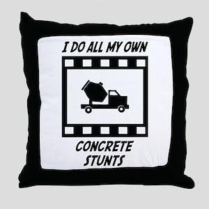 Concrete Stunts Throw Pillow