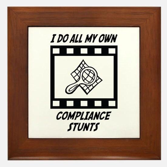 Compliance Stunts Framed Tile