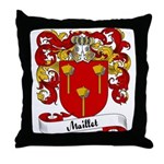 Maillet Family Crest Throw Pillow