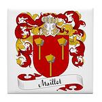Maillet Family Crest Tile Coaster