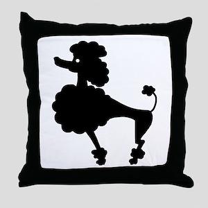 Retro Poodle Throw Pillow
